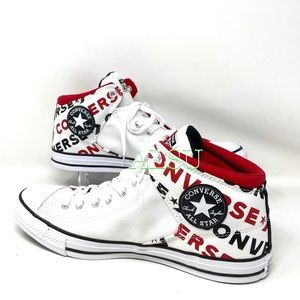 Converse High Street Mid Multi Logo White  Men's